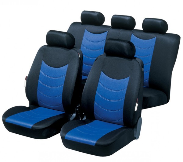 Volvo S40, seat covers, blue, complete set,