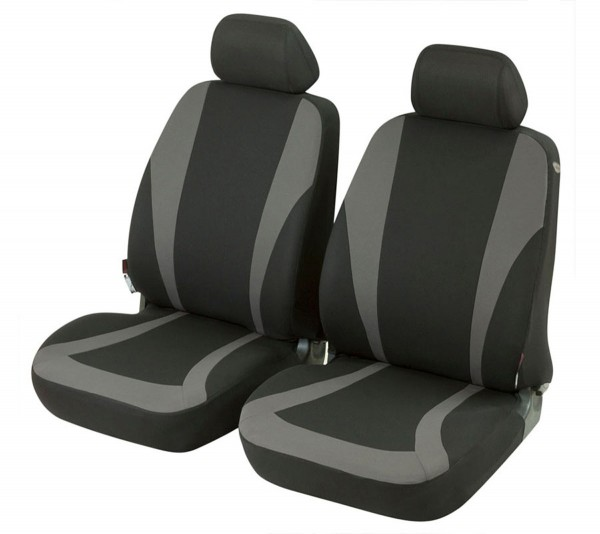 Audi A1, seat covers, black, grey, front seat set