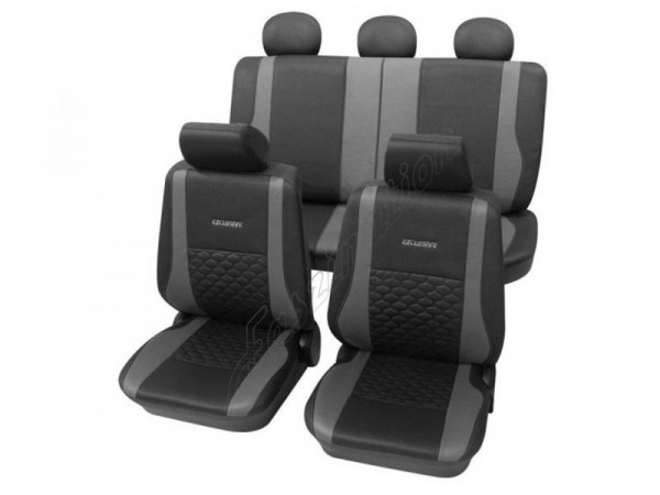 Car seat covers, protective covers, Leather look,Complete set, VW Volkswagen Käfer ,Anthracite Black Grey