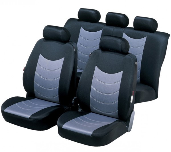 Kia Picanto, seat covers, black, grey, complete set,
