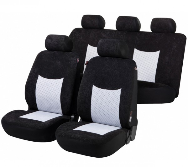 VW Jetta, seat covers, black, grey, complete set