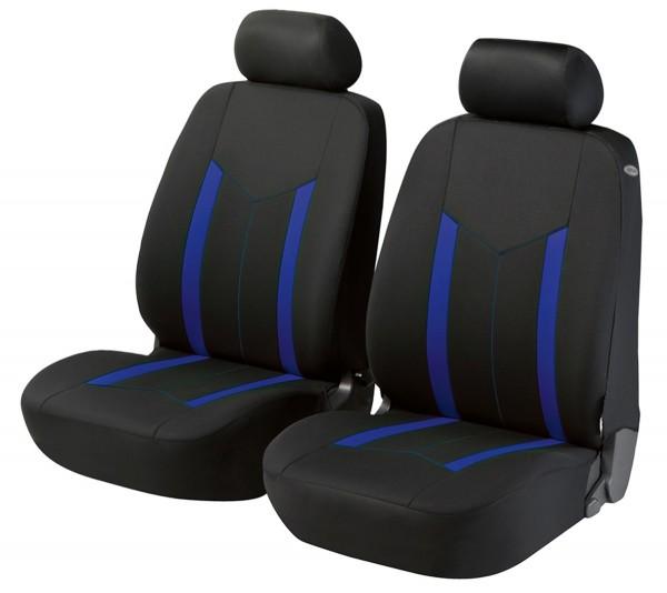 Kia Picanto, seat covers, black, blue, front seat set