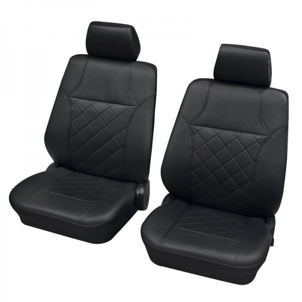 Car seat covers, protective covers, Front seat set, VW Volkswagen T5 ,Anthracite Black