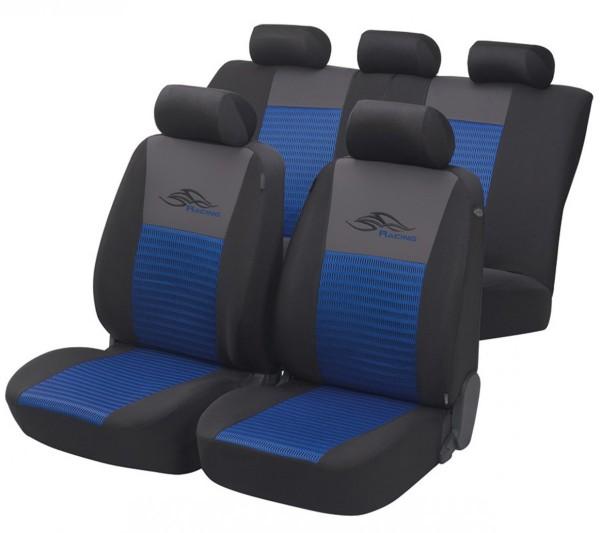 Mazda Demio, seat covers, blue, black, complete set,