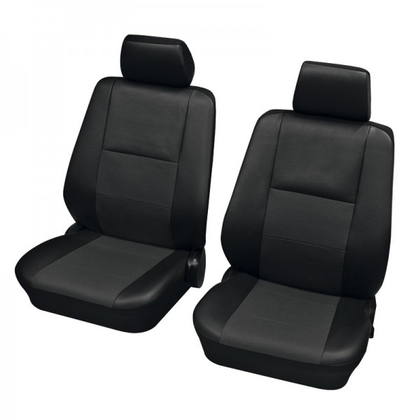 Car seat covers, protective covers, Front seat set, Audi 80 Avant ,Black Anthracite
