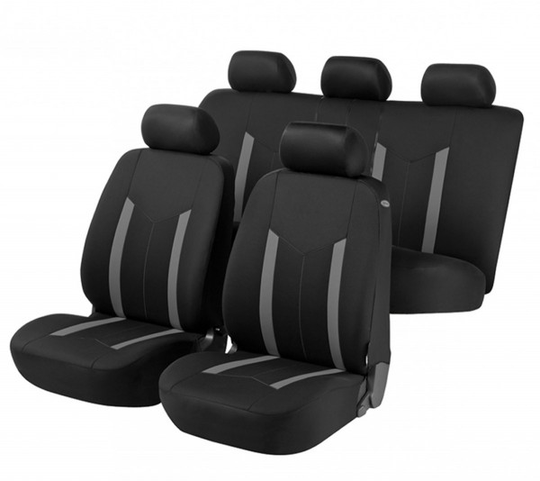 Subaru Legacy, seat covers, black, grey, complete set