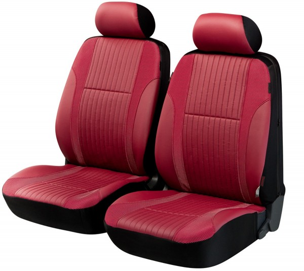Mercedes only front seat set, seat covers, red, front seat set, leatherette