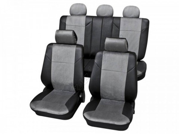 Car seat covers, protective covers, Complete set, Audi 80 Avant ,Grey Black