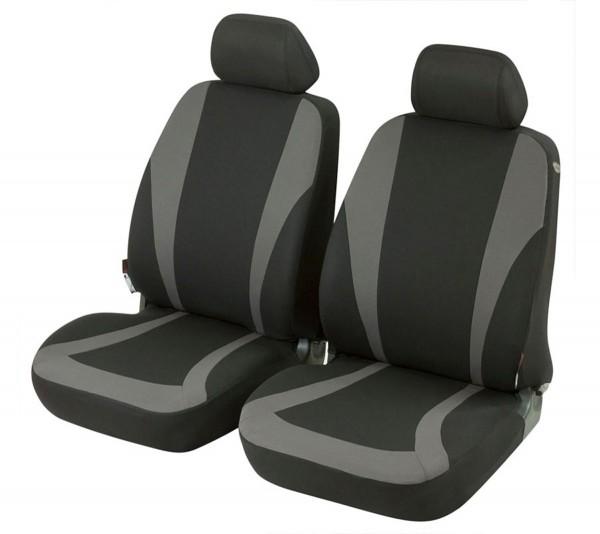 Seat Ibiza, seat covers, black, grey, front seat set