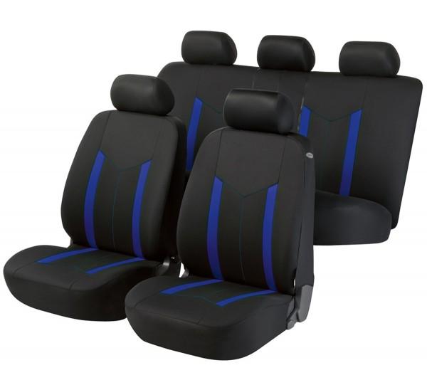Fiat Doblo, seat covers, black, blue, complete set