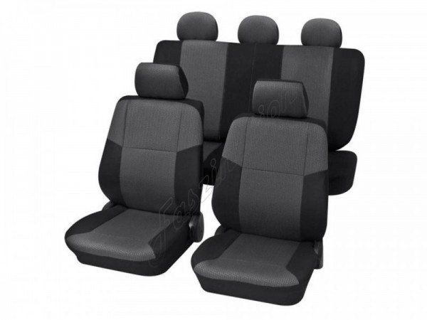 Car seat covers, protective covers, Complete set, Audi 80 Coupe ,Anthracite Grey Black